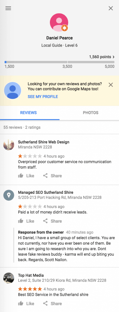remove google review